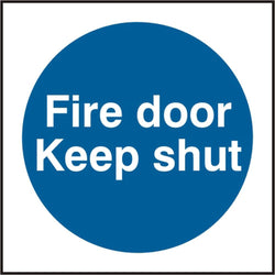 Fire Door Keep Shut Rigid PVC Safety Sign