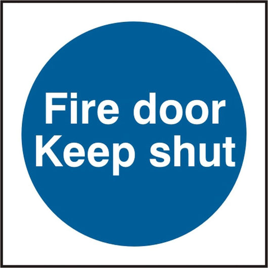 Fire Door Keep Shut Self Adhesive Vinyl Safety Sign