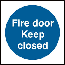 Fire Door Keep Closed 100mm Self Adhesive Vinyl Safety Sign