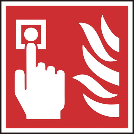 Fire Alarm Call Point Symbol Self Adhesive Vinyl Safety Sign