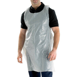 Click Once Disposable Apron White