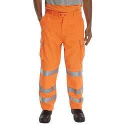 Rail Spec Hi Vis Orange Trousers 1