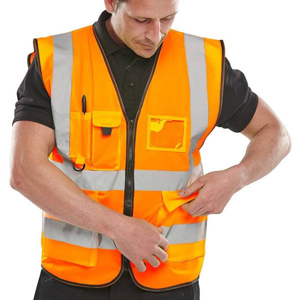 Hi Vis EN471 Executive Vest Orange