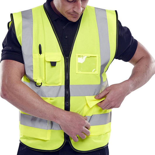 Hi Vis EN471 Executive Vest Saturn Yellow 1