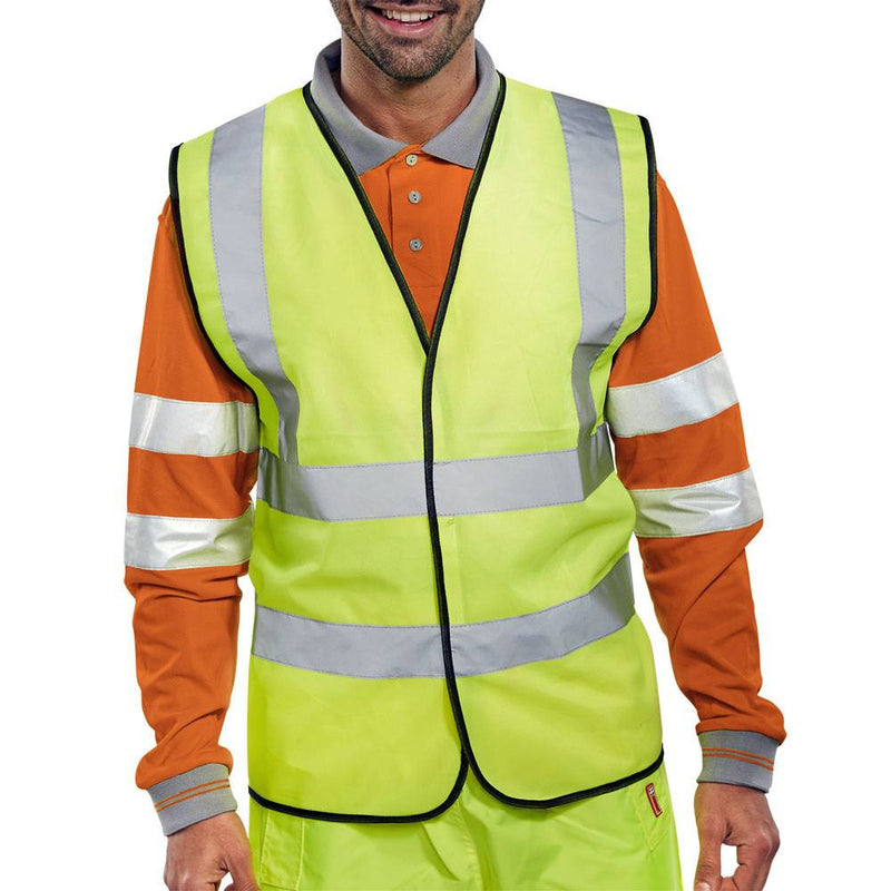 Hi Vis EN20471 Vest Saturn Yellow 1