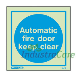 Jalite Automatic Fire Door Keep Clear Photoluminescent Sign