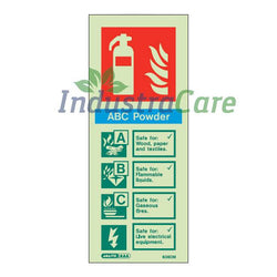 Jalite ABC Powder Fire Extinguisher Photoluminescent Sign (6360M)