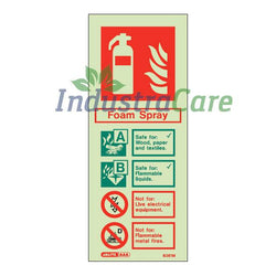 Jalite Foam Spray Fire Extinguisher Photoluminescent Rigid PVC Safety Sign