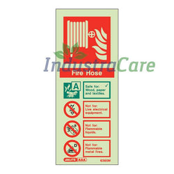 Jalite Fire Hose Reel Photoluminescent Rigid PVC Safety Sign