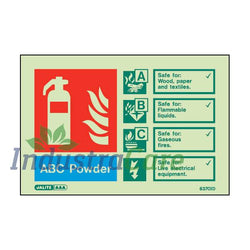 Jalite ABC Powder Fire Extinguisher Photoluminescent Sign (6370ID)