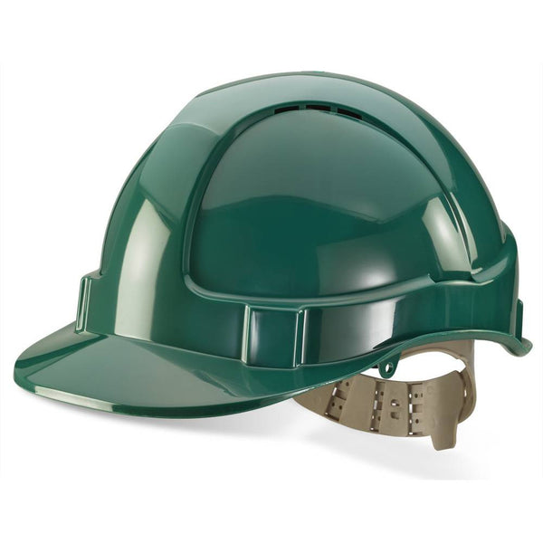 B-Brand Vented Safety Helmet Green