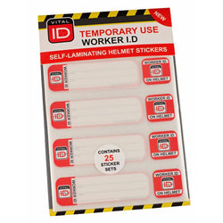 Vital ID Hard Hat ID Temporary Stickers (image 1)