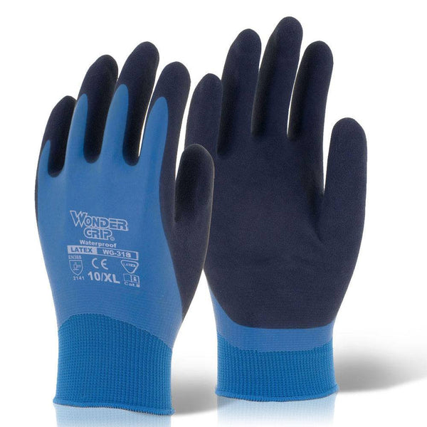 Wonder Grip Aqua Latex Safety Gloves