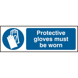 Protective Gloves Must Be Worn S.A.V Sign