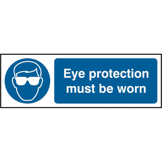 Eye Protection Must Be Worn Self Adhesive Vinyl Safety Sign