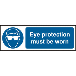 Eye Protection Must Be Worn Rigid PVC Safety Sign