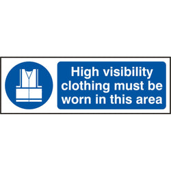 Hi Vis Clothing Must Be Worn Self Adhesive Vinyl Safety Sign
