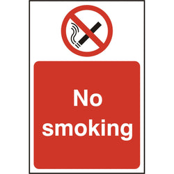 No Smoking Self Adhesive Vinyl Prohibition Safety Sign