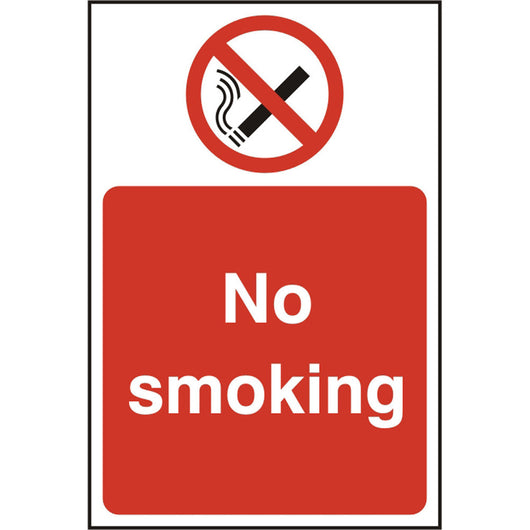 No Smoking Rigid PVC Prohibition Safety Sign