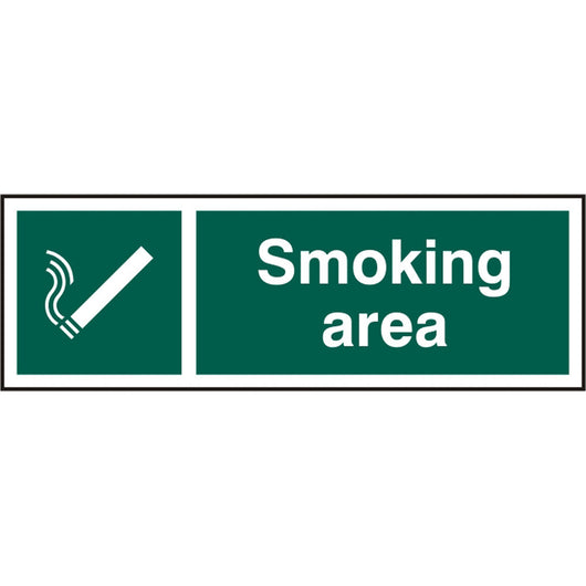 Smoking Area Rigid PVC Safety Sign