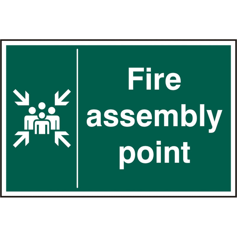 Fire Assembly Point Rigid PVC Safety Sign