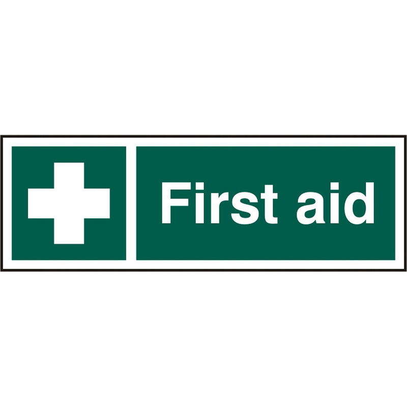 First Aid Self Adhesive Vinyl Safety Sign