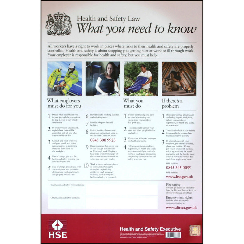 Health and Safety Law Poster PVC
