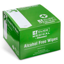 Click Medical Alcohol Free Wipes Box of 100
