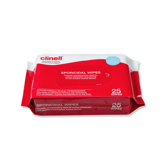 Clinell Sporicidal Wipes (Pack of 25)