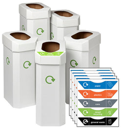 UK Combin Recycled Cardboard Bin - Pack of 5