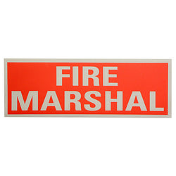 Fire Marshall Reflective Back Panel