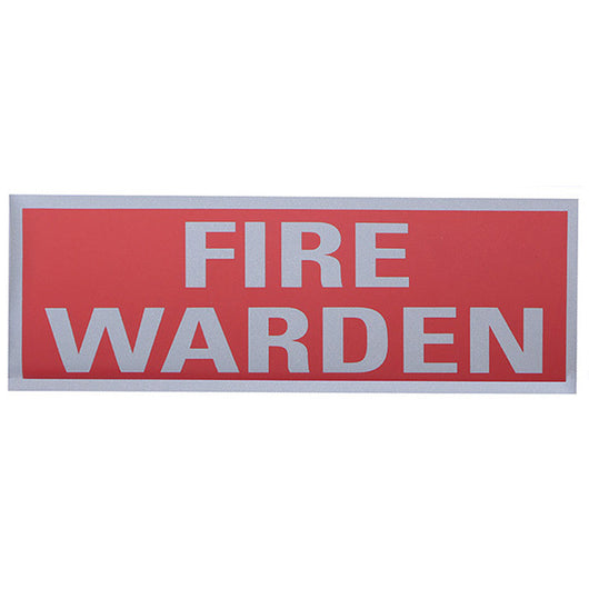 Fire Warden Reflective Back Panel