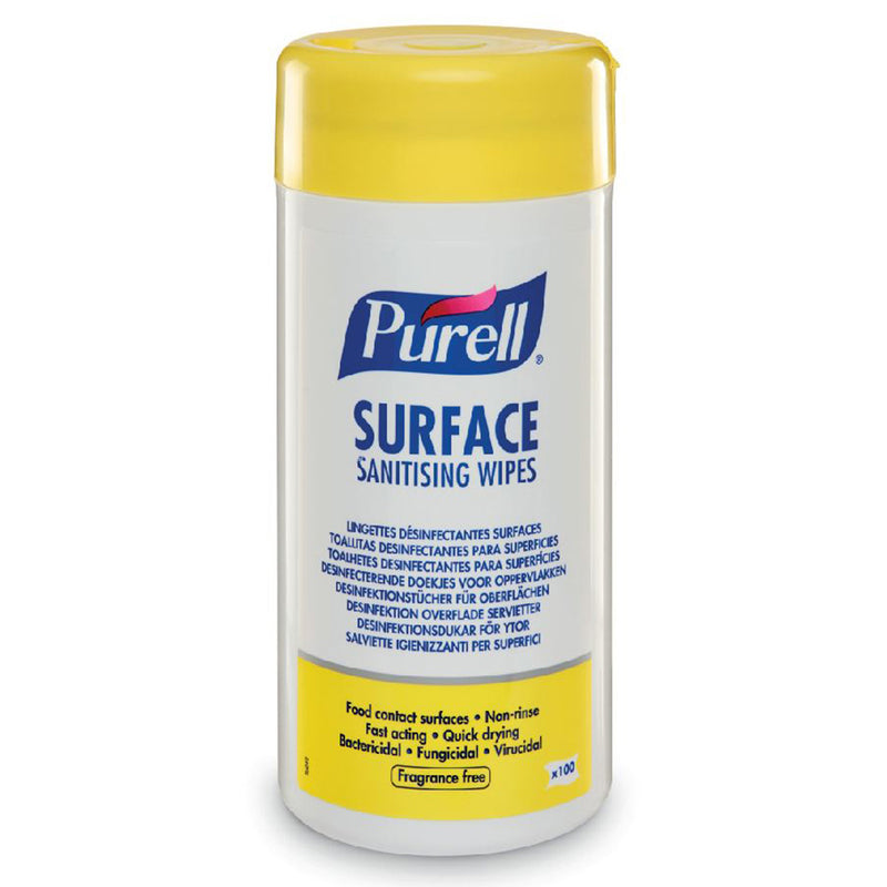 Purell Surface Sanitising Wipes (Tub of 100)