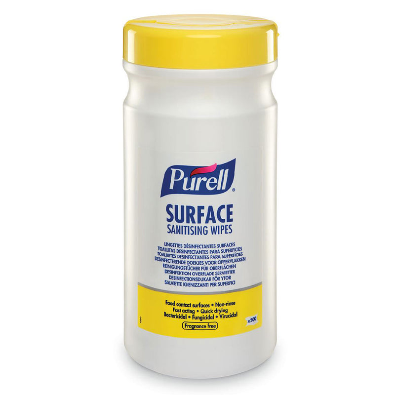 Purell Surface Sanitising Wipes (Tub of 200)