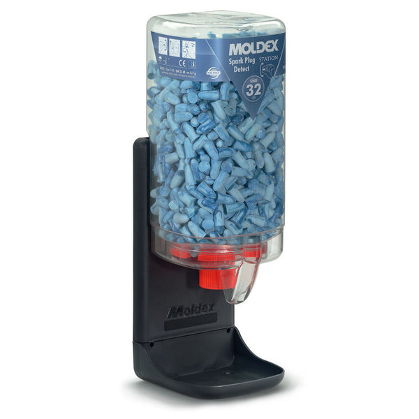 Moldex Dispensing Station Detectable Spark Disposable Ear Plugs - 500 Ear Plugs