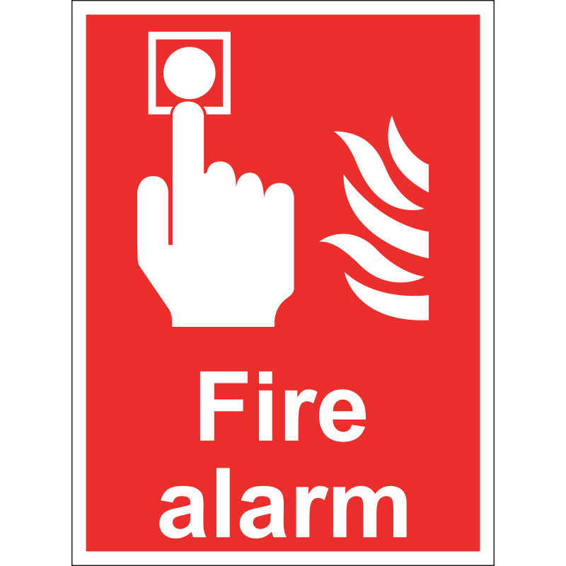 Fire Alarm Sign, 15x20cm (Rigid)