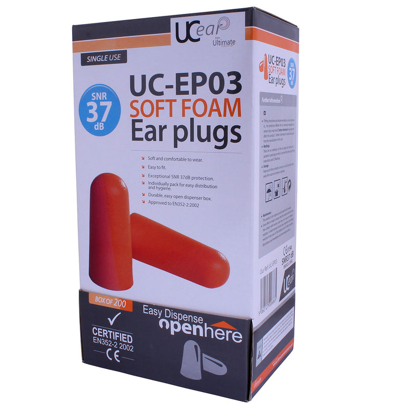 UCi Disposable Foam Ear Plugs UC-EP03 (Boxed)