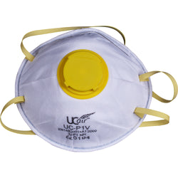UCI FFP1 Disposable Valved Cup Mask Front View