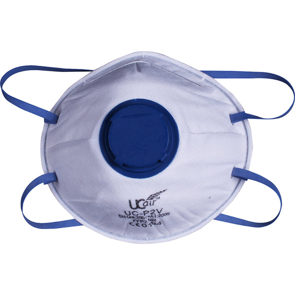 UCI FFP2 Disposable Valved Cup Mask Front View