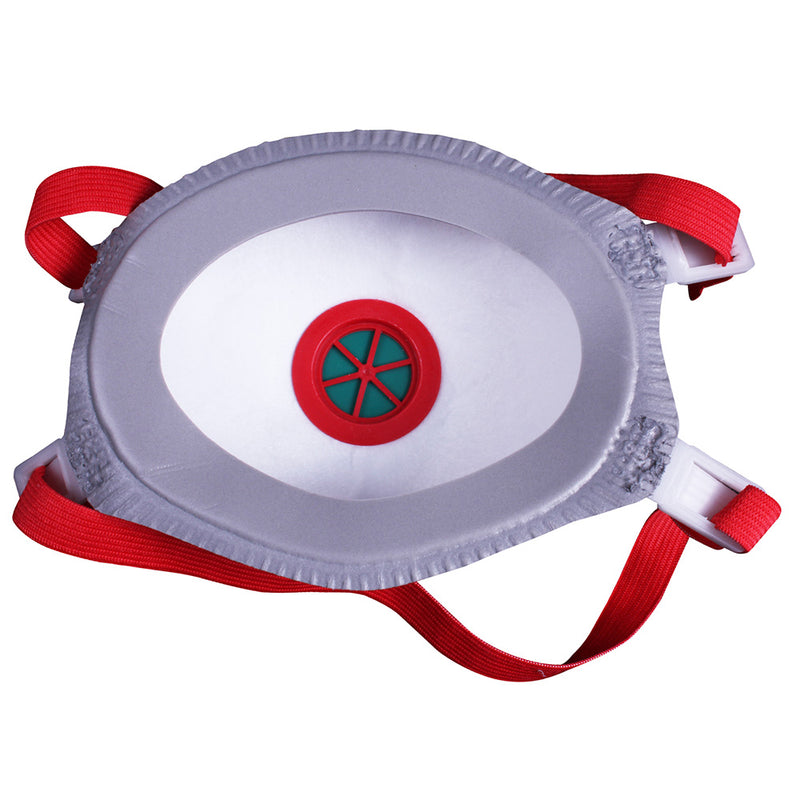 UCI FFP3 Disposable Valved Cup Mask Back View