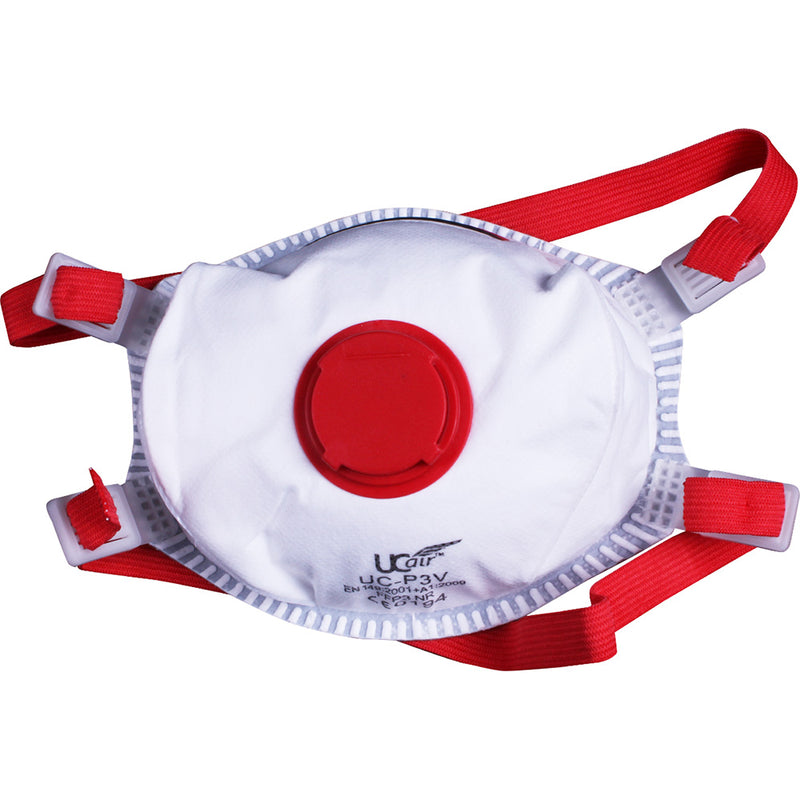 UCI FFP3 Disposable Valved Cup Mask Front View