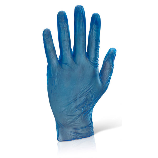Powdered Blue Disposable Vinyl Gloves 100pk