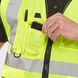 Hi Vis EN471 Executive Vest Saturn Yellow 3