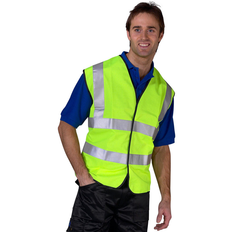 Hi Vis EN20471 Vest Saturn Yellow 2