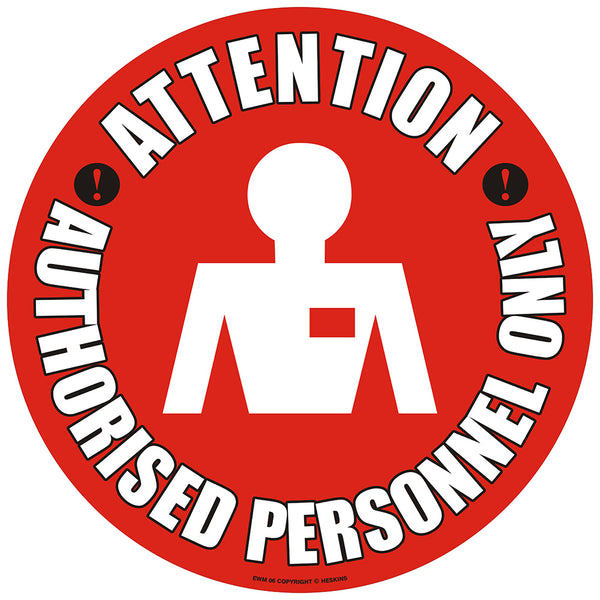 PROline Floor Sign: Attention Authorised Personnel Only