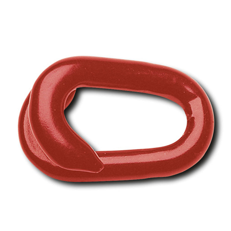 Chain Connecting Links - Galvanised Steel with Red Plastic Coating