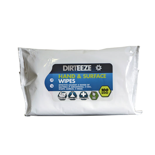 Dirteeze Hand & Surface Antibacterial Wipes