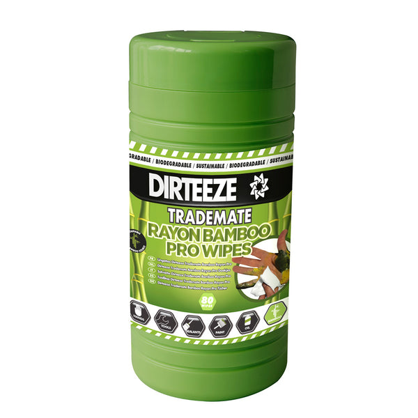 Dirteeze Rayon Bamboo Pro Wipes (Tub of 80)