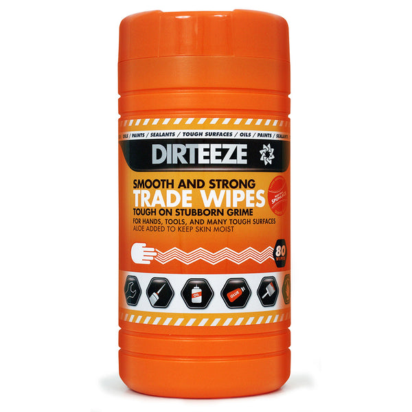 Dirteeze Smooth and Strong Wipes (Tub of 80)
