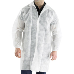 Disposable Visitors Coat White